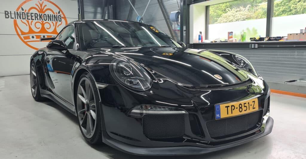 Auto detailing voorkant Porsche GT3